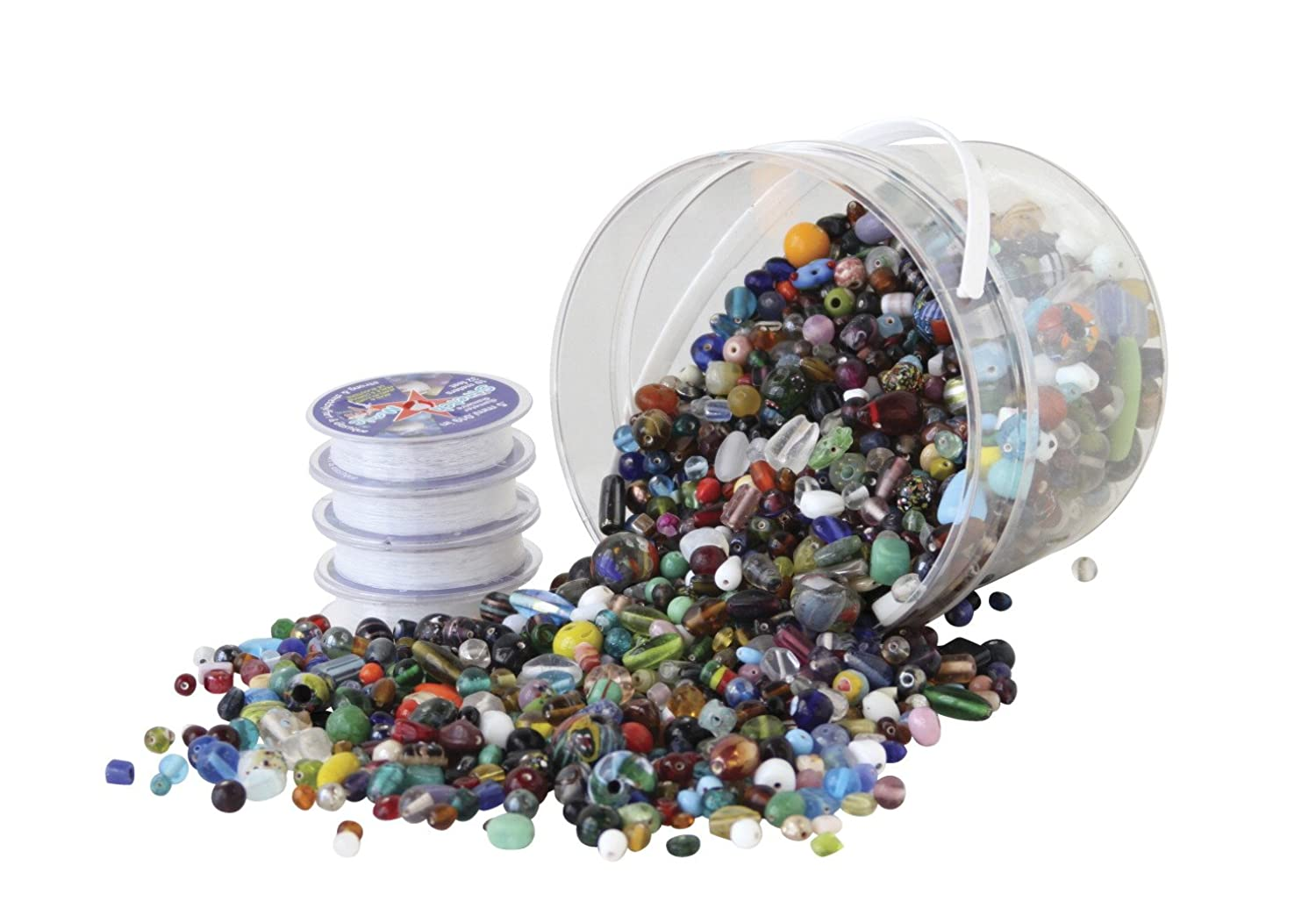 School Specialty 408860 Glass Bead Kit, Assorted Size