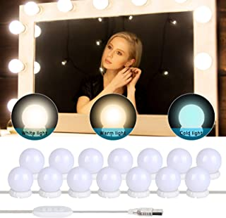 Yideng Vanity Spiegellichten, USB Hollywood Spiegellichten Stick-on Make-up Licht DIY Vullicht voor Kaptafel Badkamer, 3 K...
