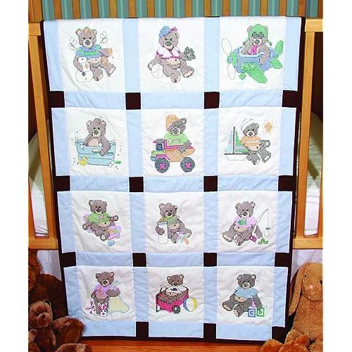 White Fairway 92378 Baby Quilt Block Duck Design Twelve Blocks