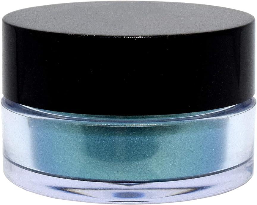 不一致円形オーロック三善 プチカラー 高発色 アイシャドウ パール col:14 エメラルドグリーン系