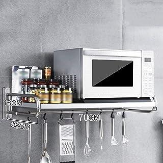 JYSXAD Support Mural pour Four à Micro-Ondes de Cuisine Organisateur d'étagère de Rangement en métal pour Salle de Bain av...