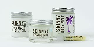 SKINNY and CO. CALMING Raw Beauty Coconut Oil Starter Kit - also includes Beauty Balm, Body Melt, Lip Balm - Value $71