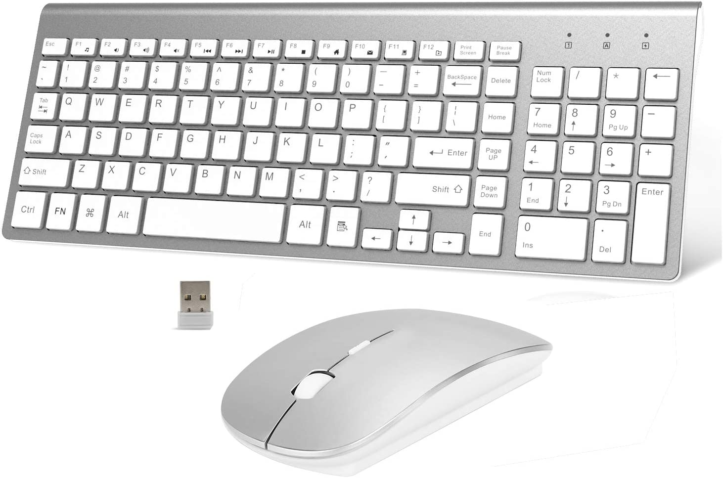 Wreless Super beauty product restock quality top! Keyboard and Mouse New color Full-Size Slim 2.4 Ergonomic Compact