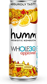 Sponsored Ad - Humm Whole30 Approved Probiotic Kombucha Mango Lemon - The Only Whole30 Approved Kombucha. Absurdly Tasty. ...