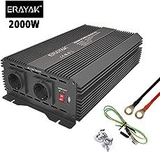 ERAYAK Inversor de Corriente 12v 220v con Puerto USB con 2 AC Tomas y Encendedor Convertidor Onda Sinusoidal para Automóviles 2000W/1500W/1000W/600W/300W/150W (2000W~4000W)