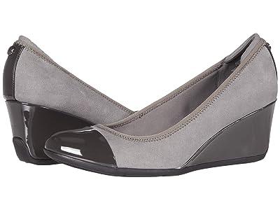 Anne Klein Sport Taite Wedge Heel (Grey) Women