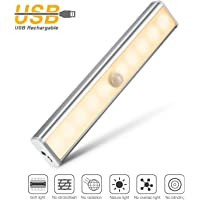 OJA Upgraded Motion Sensor USB Rechargeable LED Cabinet Light