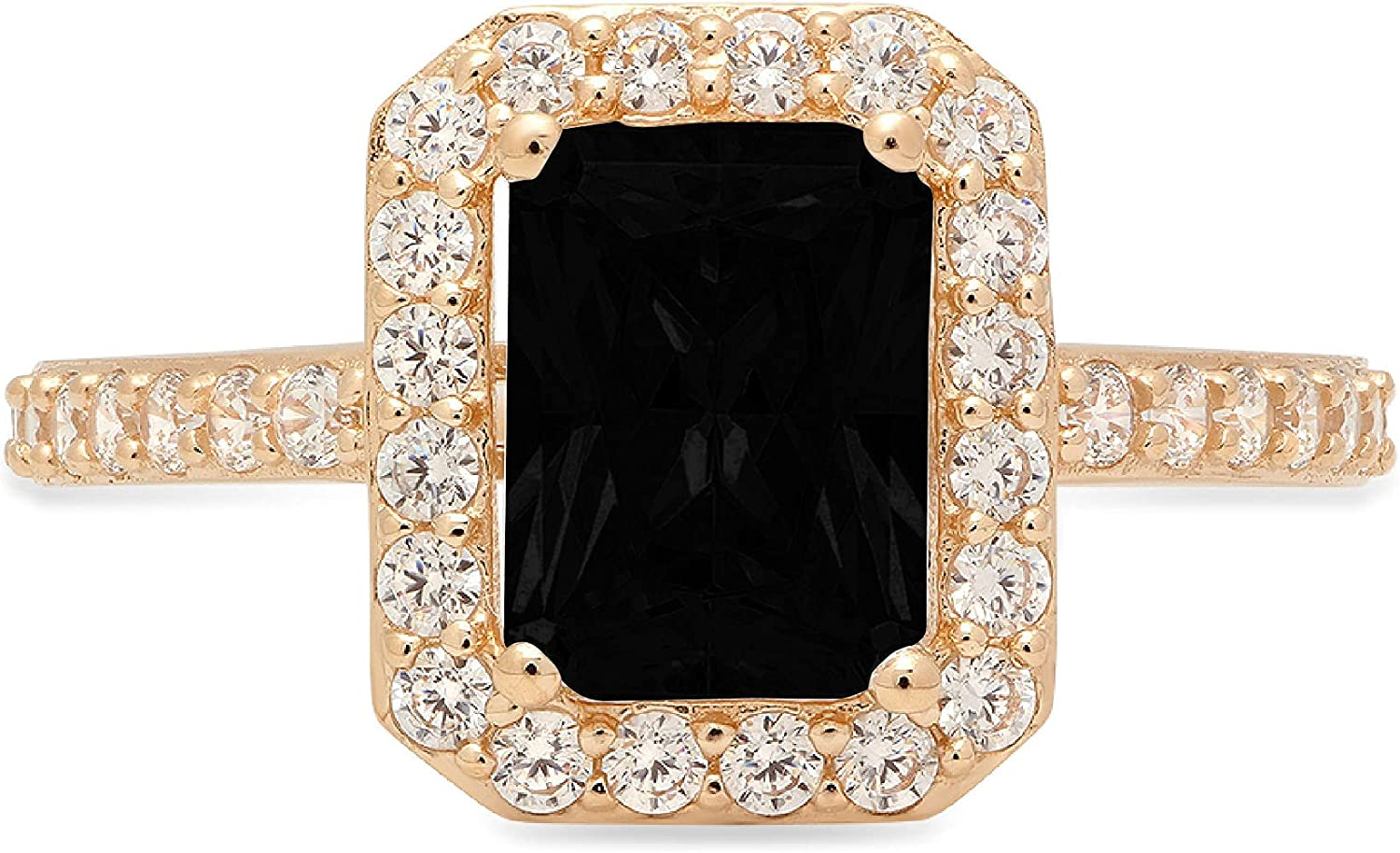 2.01ct Albuquerque Mall Brilliant Emerald Cut Inexpensive Solitaire Halo Accent Flawless with