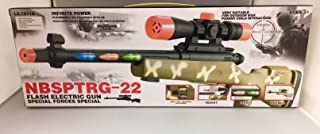 toysrex KID'S TOY SNIPER RIFLE CAMOUFLAGE WITH LIGHTS AND SOUNDS