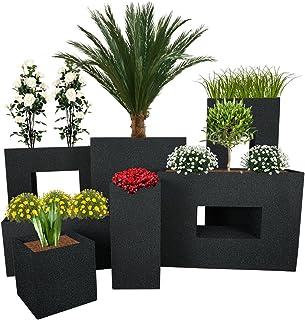 Pflanzwerk® Maceta Cube Granito Antracita 23x23x23cm *