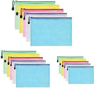 comprar comparacion Vicloon Bolsas de Documentos A3+A4+A5, 15 Piezas Carpetas para Archivo Documentos de plástico con Malla, Bolsa de Archivo ...