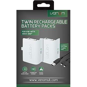 Venom Rechargeable Battery Twin Pack - Bianco (Xbox One) - [Edizione: Regno Unito]
