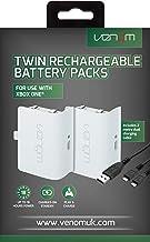 Venom - Twin Rechargable Battery Packs Con Cubiertas - Blanco (Xbox One)