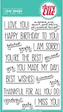 Avery Elle AE1316 Stamp Set, 4-Inch by 6-Inch, Handwritten Notes, Clear