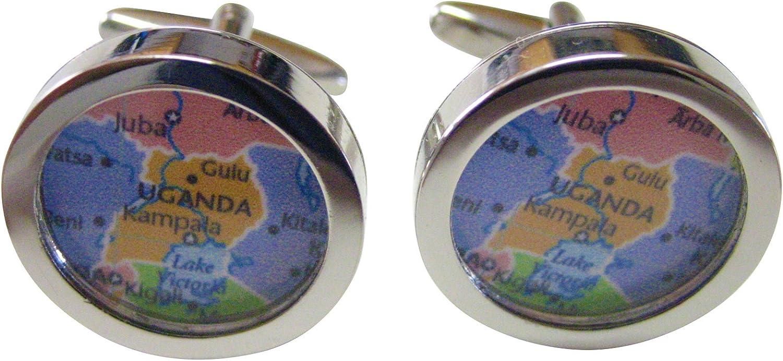 Uganda Map Cufflinks