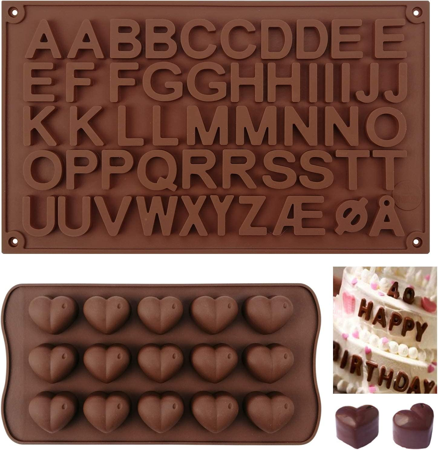 Silicone Chocolate Mold Surprise price 26 And Alphabets Quality inspection Letter Heart