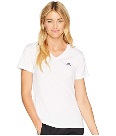 adidas Tech Tee (White/Black) Women