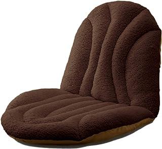 公商 【ボリューミー ぬくぬく いす クッション ブラウン 】椅子 クッション 座ぶとん 背もたれ 背あて 20300 82×46cm