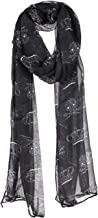 Women's Crown and Skull Prints Light Weigh Fashion Scarf Shawl Wraps