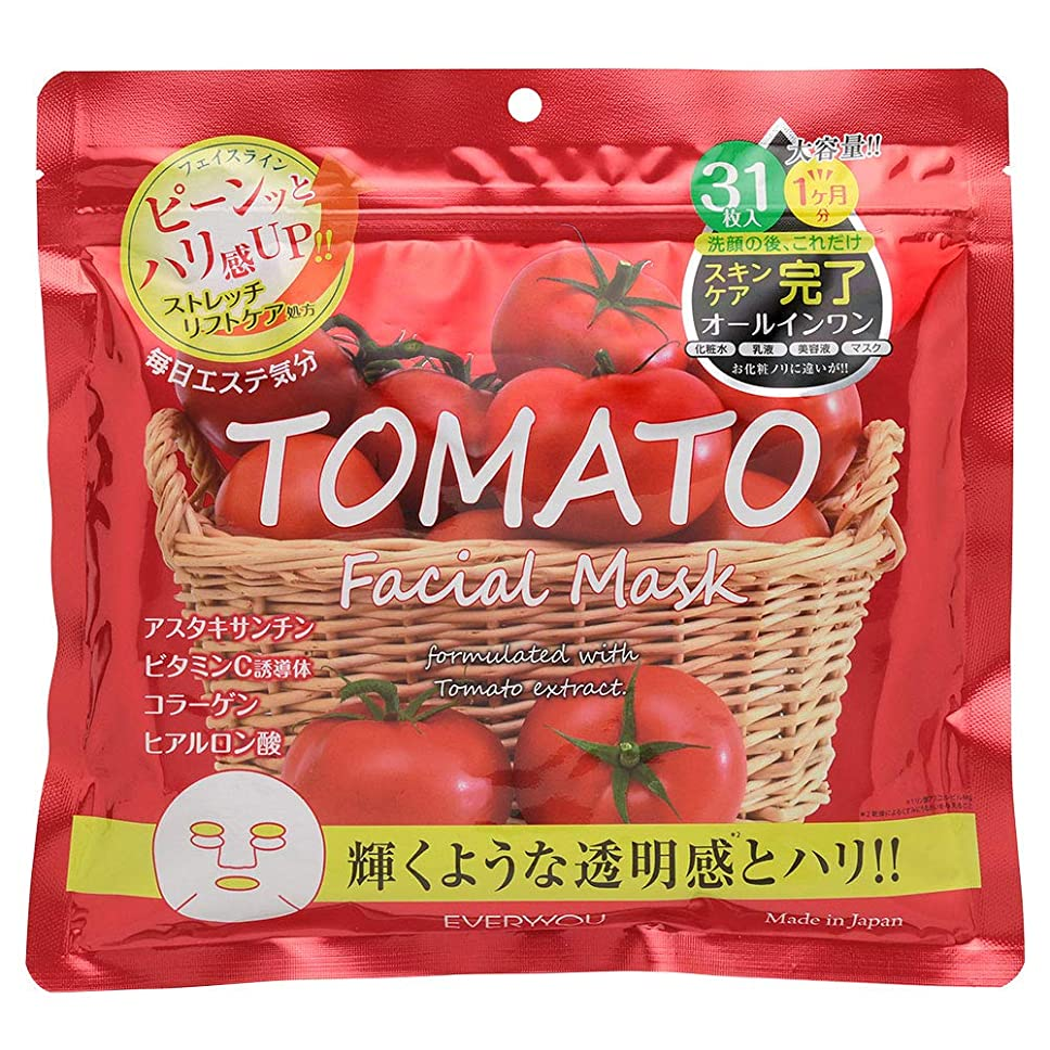 常習的電気陽性くびれたトマト フェイシャルマスク 31枚入 日本製 EVERYYOU