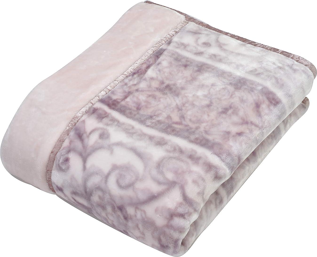 に対して移行するこどもの日西川(Nishikawa) 毛布 ピンク シングル 140×200㎝ 2枚合わせ 洗える あったかい ハイボリューム 2.7kg 2CH5842