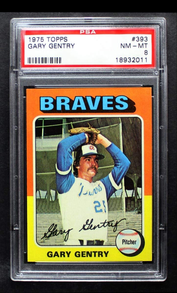 1975 Topps # 393 Gary Brand Cheap Sale Venue Gentry PSA Direct sale of manufacturer Braves Atlanta Baseball Card