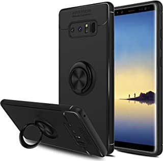 Galaxy Note 8 Case, Elegant Choise Hybrid Slim Durable Soft 360 Degree Rotating Ring Kickstand Protective Case with Magnetic Case Cover for Samsung Galaxy Note 8 / SM-N950F / SM-N950U (Black)