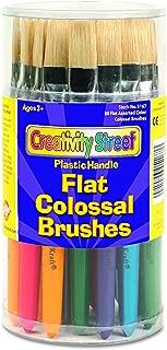 Creativity Street 5167 Colossal Brush, Natural Bristle, Flat (Set of 30)