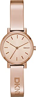 DKNY Soho Women's Pink Dial Stainless Steel Analog Watch - NY2308