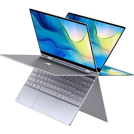 BMAX Y13 Ordenadores portátiles, 360° Convertible táctil Pantalla 13.3 Pulgada FHD 1080P , Intel N4120, 8GB RAM+ 256GB SSD, Windows 10, BT4.2