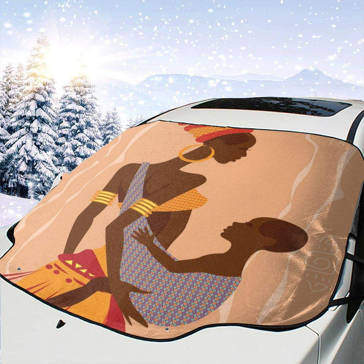 Car Front Window Windshield Gorgeous Snow African Mother Cover Beautiful Denver Mall