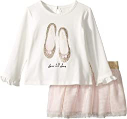 Glitter Flats Skirt Set (Infant)