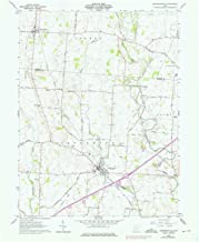 YellowMaps Jeffersonville OH topo map, 1:24000 Scale, 7.5 X 7.5 Minute, Historical, 1961, Updated 1976, 27 x 22 in