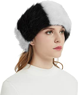 Best black and white fur hat Reviews