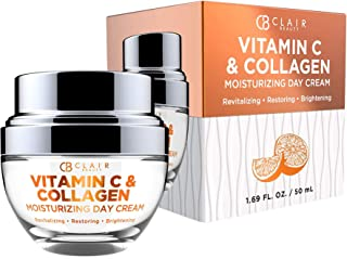 CLAIR BEAUTY Vitamin C & Collagen Moisturizing Day Cream - Revitalizing & Brightening | Reduces Appearance of Wrinkles & F...
