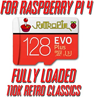 Retropie 128GB 110,000 Retro Classics for Raspberry Pi 4