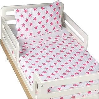 aden + anais Classic Toddler Bed in a Bag - Fluro Pink Kids Bedding Sets: Toddler Bedding, Toddler Pillow, Cotton Blanket