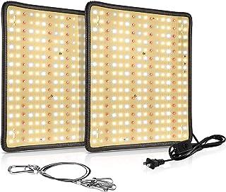 2 بسته چراغ رشد LED LaMuVii 200W Full Spectrum ، چراغ رشد پنل برای گیاهان گلخانه ای و گلخانه ای ، نهال ، گیاهان آبی ، گیاهان دارویی ، سبزیجات و گل ها