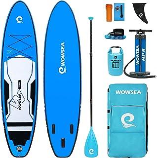 """WOWSEA サップ インフレータブル スタンドアップパドルボード 11'(335cm)×32""""(80cm)×6""""(15cm) 安定性抜群 SUPボード ヨガ 釣り 海 夏 セット ブルー"""