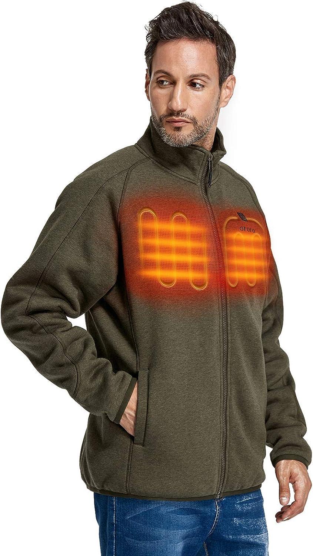 online shop ORORO Men's Heated Fleece Jacket Zip with Full List price Pack Battery