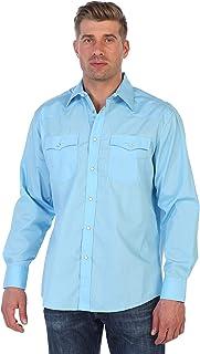 Gioberti Men's Solid Long Sleeve Western Shirt