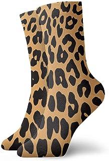 Jhonangel, Calcetines de estampado de leopardo de animales divertidos divertidos para niños y niñas
