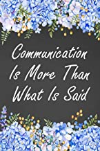 Communication Is More Than What Is Said: Blank Lined Speech Language Pathologist Journal