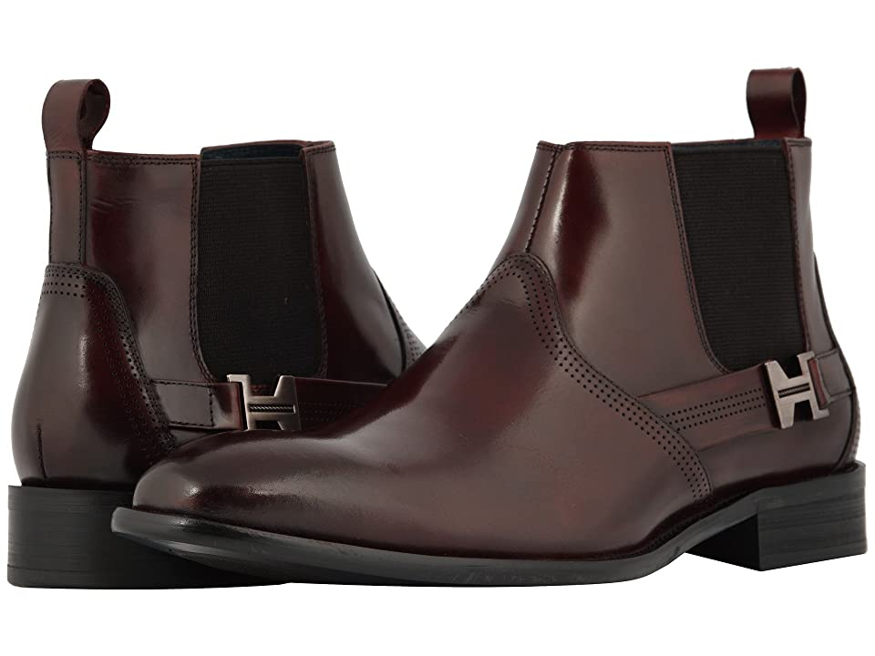 Stacy Adams Joffrey Plain Toe Chelsea Boot (Burgundy) Men