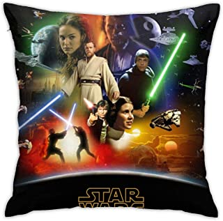 Star Wars Throw Pillow Covers Home Décor Decorative Square Cushion Pillow Cases for Couch Bed Sofa with Hidden Zipper 18 X 18 Inches
