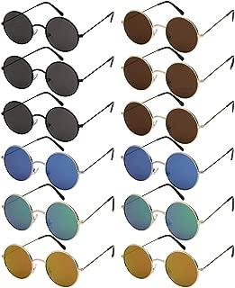 Edge I-Wear Bulk Wholesale Sunglass Round John Lennon Circle Sunglasses Schoolboy