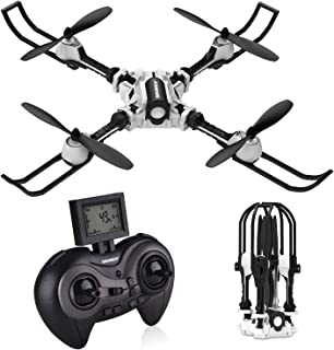 SIMREX X500 Drone RC Quadcopter Altitude Hold Headless RTF 3D 360 Degree Flips & Rolls 6-Axis Gyro 4CH 2.4Ghz Remote Control Helicopter Height Hold Steady Super Easy Fly for Training.