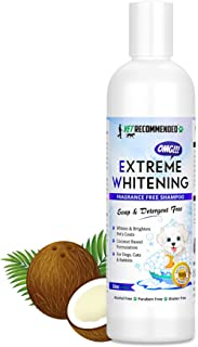 Vet Recommended OMG Extreme Dog Whitening Shampoo (16 Oz /473ml) - Coconut Based 100% Safe - Free from Soaps, Detergent, B...