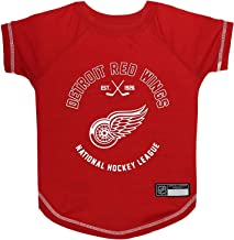 NHL DETROIT RED WINGS Tee Shirt for DOGS & CATS, Medium. - Are you a HOCKEY FAN? Let your Pet be an NHL FAN too!