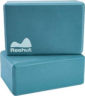 Reehut ヨガブロック ピラティスブロックヨガ枕ヨガ用 高密度EV丈夫な 軽量 耐臭性 防湿性 ポーズ補助 バランス補助 補助 体力改善 柔軟性向上 1個 2個セット 全5色